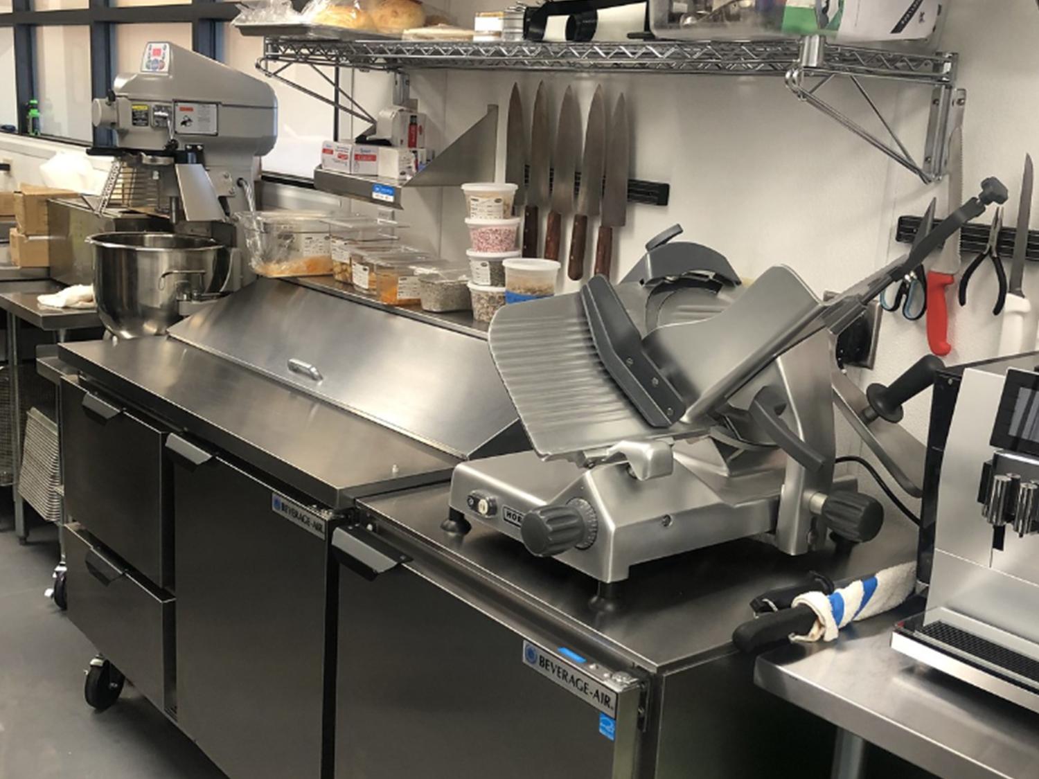 Slicer and undercounter refrigeration